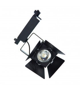Foco de Carril Escaparate LED 32W - IP20. Monofásico con Aletas