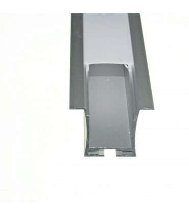 PERFIL ALUMINIO TIRA LED 12/220v EMPOTRAR 2M 078