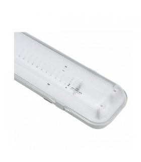 PANTALLA ESTANCA 2 TUBOS LED 120 CM CONEX. 2 LADOS