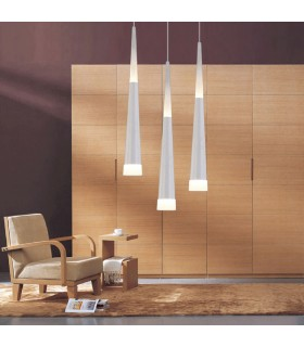 Lampara led 27w Diseño pendular blanca