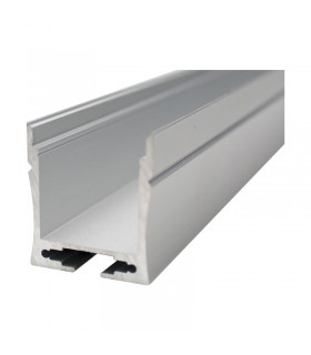 PERFIL ALUMINIO TIRA LED 12/220v SUPERFICIE