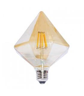 BOMBILLA LED G125 PIRAMIDE FILAMENTO E27 6W