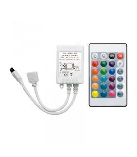 CONTROL REMOTO TIRA LED 12 RGB 6A