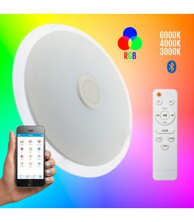 PLAFON 36W REGULABLE BLUETOOTH ALTAVOZ RGB