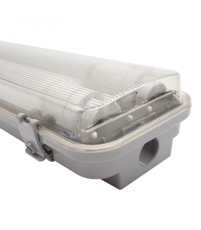 PANTALLA ESTANCA LED DOS TUBOS 1.200 MM 36W INTEGRADOS CONEX. DOS LADOS