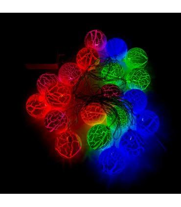 GUIRNALDA 20 BOLAS LED MULTICOLOR RGB NAVIDAD IP44