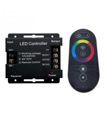 CONTROLADOR TACTIL LED 6-18A 12-24V RGB 72-432W