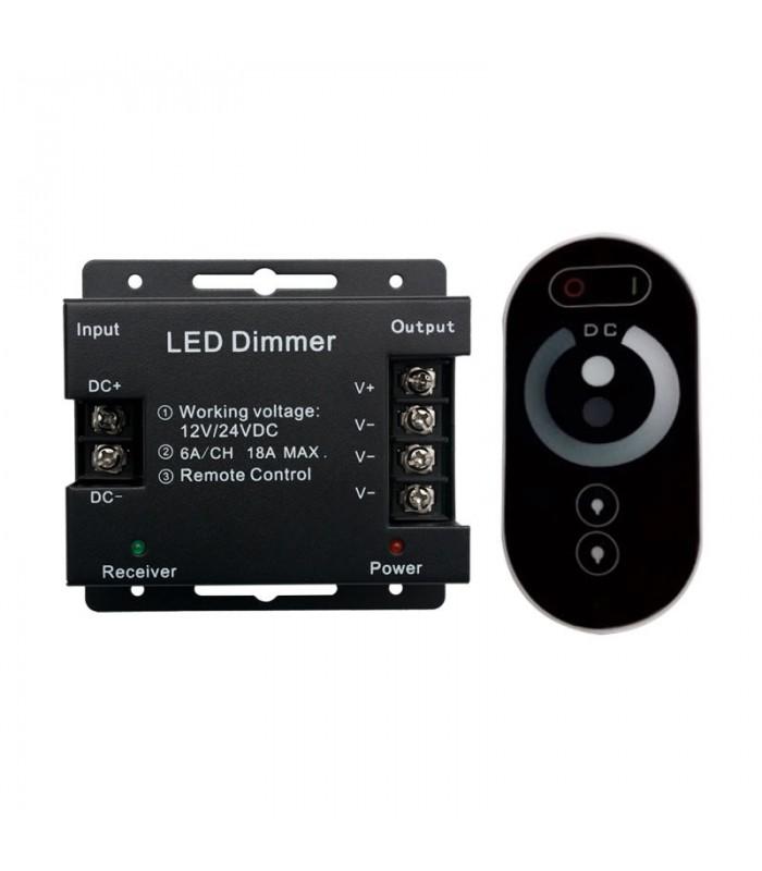 CONTROLADOR TACTIL LED 6-18A 12-24V MONO 72-432W