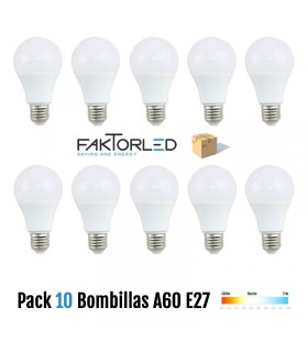 Pack 10 Bombillas A60 E27