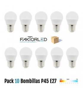Pack 10 Bombillas P45 E27