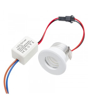 Foco Mini Spot Led 3W - IP20 - 280 Lúmenes