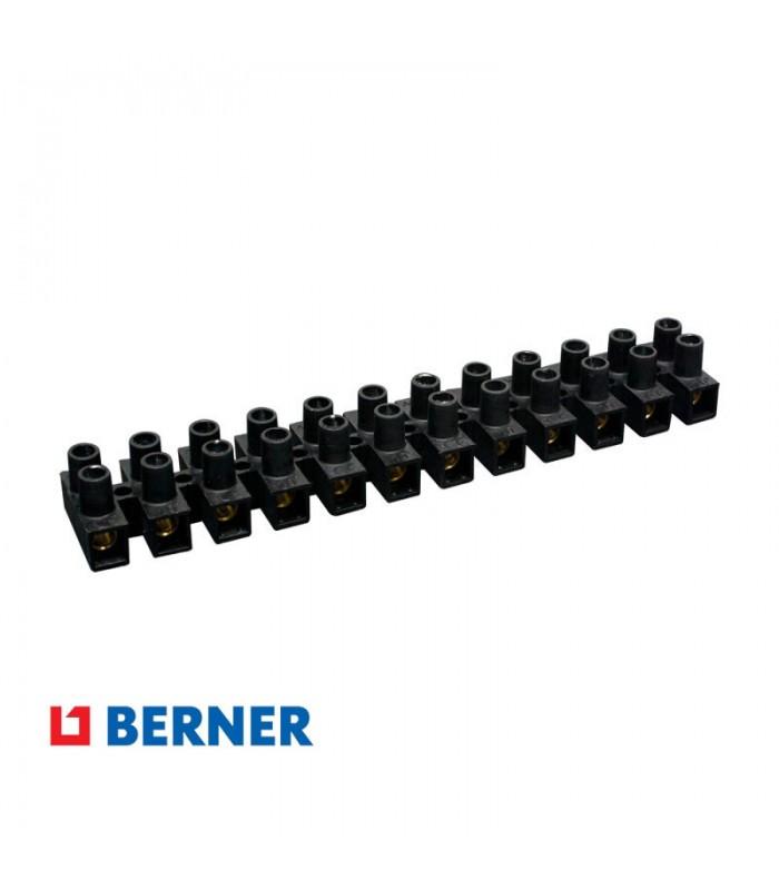 Regleta 12 Clemas Negro 6mm - 10mm