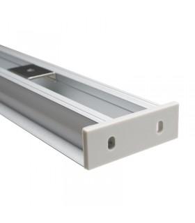 Perfil de superficie bidireccional - Medidas: 49mm x 12.5mm - 2 metros