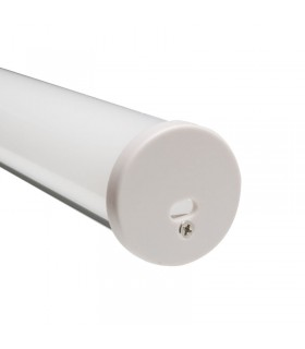 Perfil REDONDO de superficie o colgar 430 - Medidas: 30mm - 2 metros
