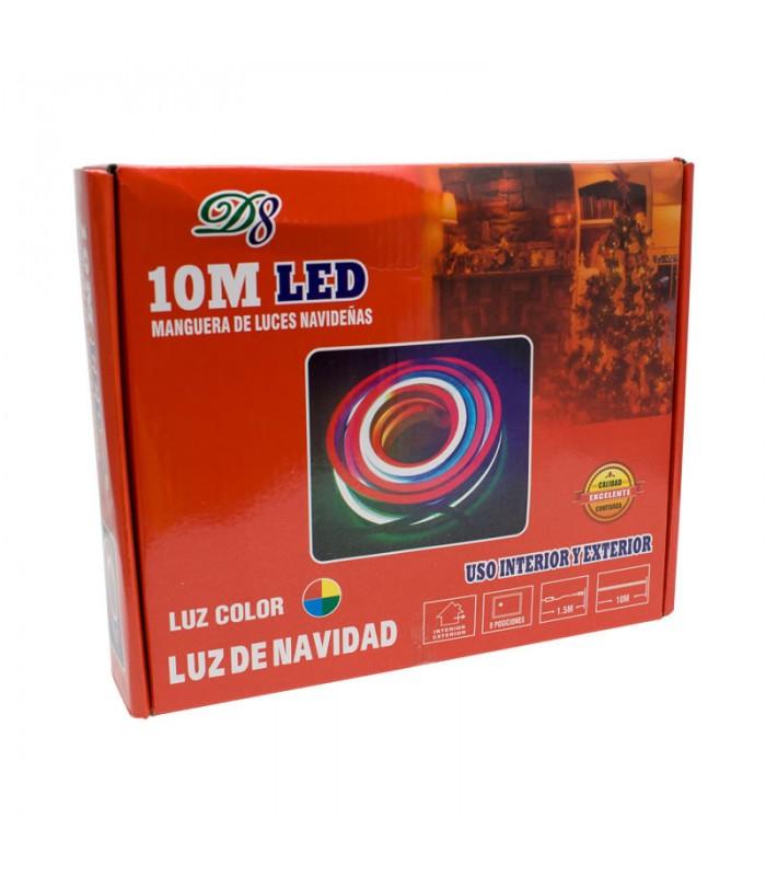 MANGUERA DE LUCES NAVIDEÑAS RGB 10 METROS USO INTERIOR Y EXTERIOR