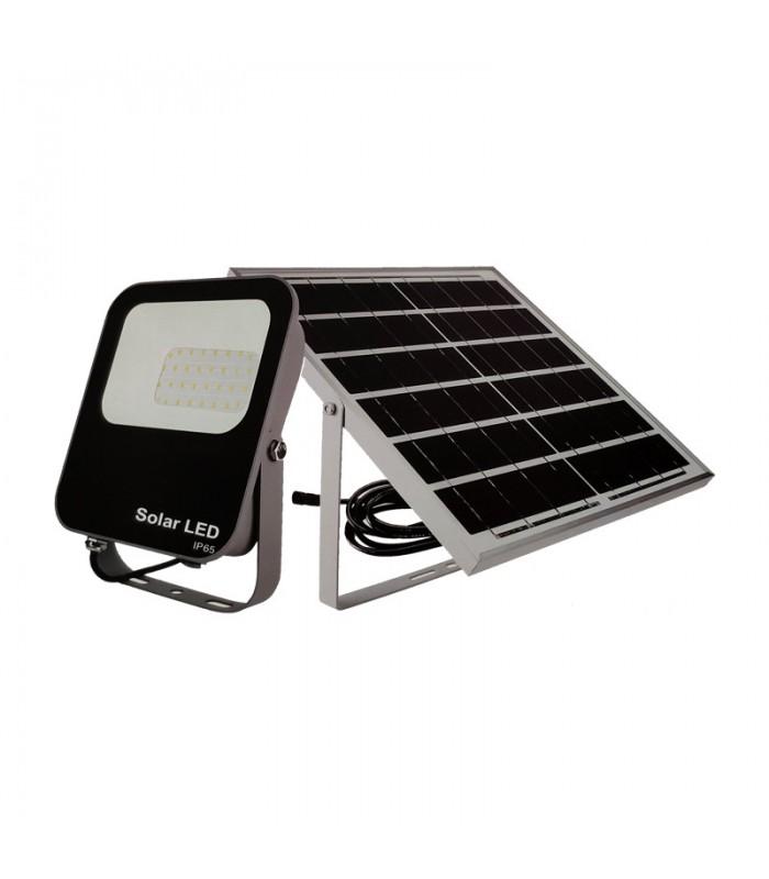 PROYECTOR EXTERIOR SOLAR 30W 6000K 860LM 6V/6W DC3. 2V IP65