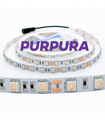 TIRA 12V 5050 IP20 60CHIPS 14.4W/M PURPURA UV