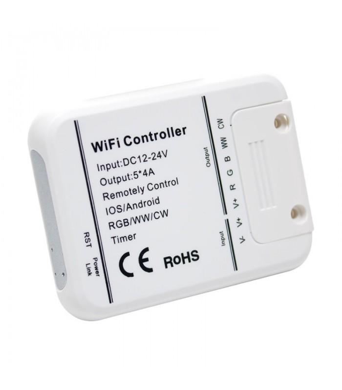 Controlador WIFI TIRA LED 12V SMD 5050 RGB+BLANCO+CALIDO (RGB+WW+W)
