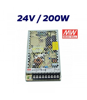 FUENTE ALIMENTACIÓN LED 24V MEAN WELL 200W