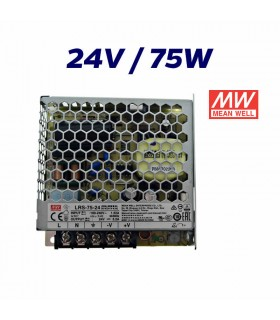 FUENTE ALIMENTACIÓN LED 24V MEAN WELL 75W