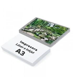 PACK 50 PAPELES BACKLIGHT/RETROILUMINADO 125G A3 PARA IMPRESORA INKYET Y LASER