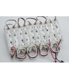 MODULO LED MULTICOLOR RGB 0.75W/UNIDAD 3 CHIPS IP65