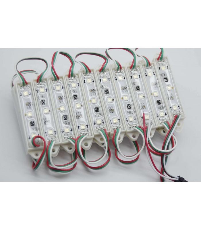 MODULO LED MULTICOLOR RGB 0.75W/UNIDAD 3 CHIPS IP65