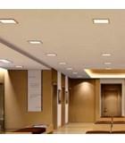 Placa cuadrada de led panel para empotrar en techos de escayola